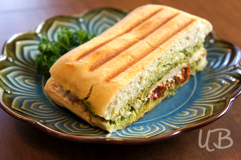 Spicy Pesto, Sun-Dried Tomato, and Chicken Panini