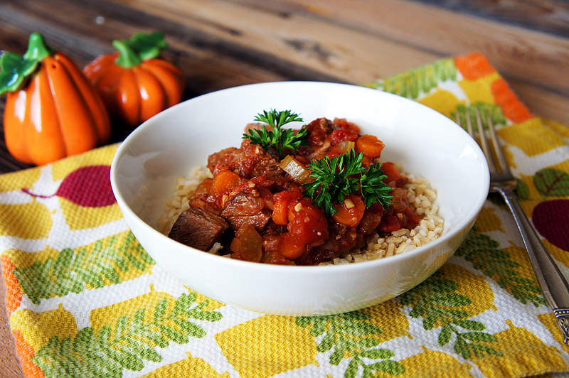 Slow Cooker Beef and Tomato Stew