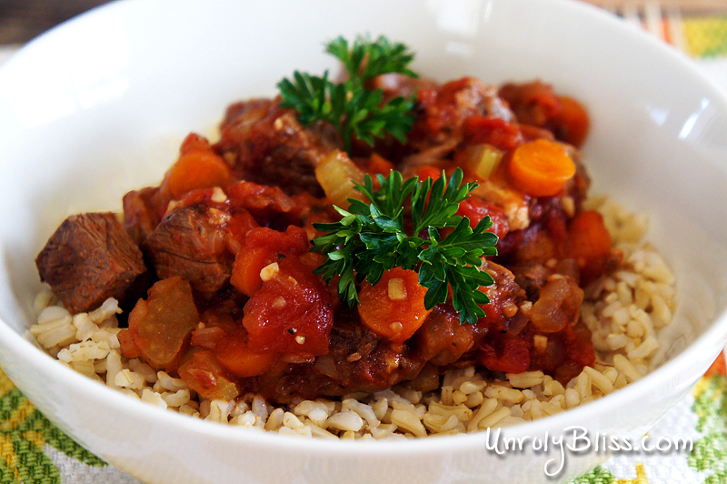 Slow Cooker Beef and Tomato Stew – Unruly Bliss
