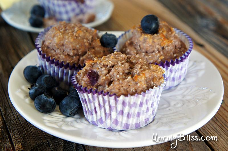 Chobani Blueberry Chia Seed Muffins