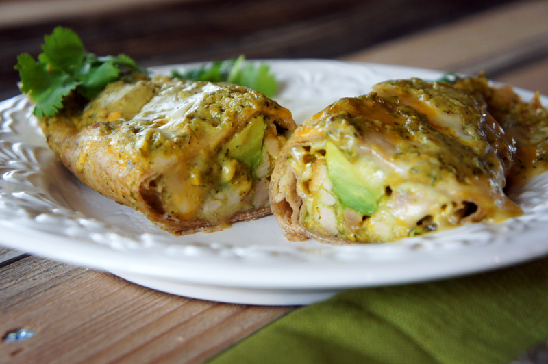 Chicken Avocado Enchiladas