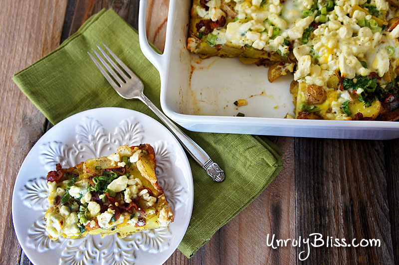 Potato Frittata With Feta And Scallions Unruly Bliss