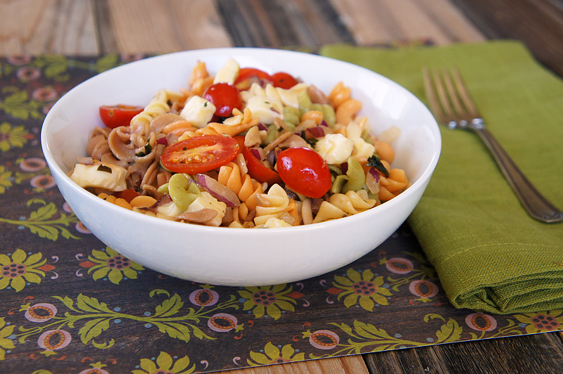 Tomato, Basil, and Mozzarella Pasta