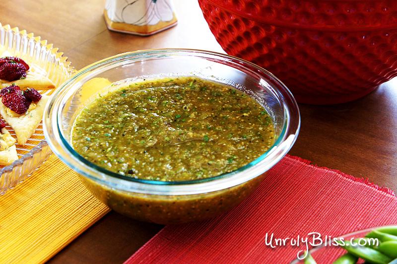 Grilled Tomatillo Salsa