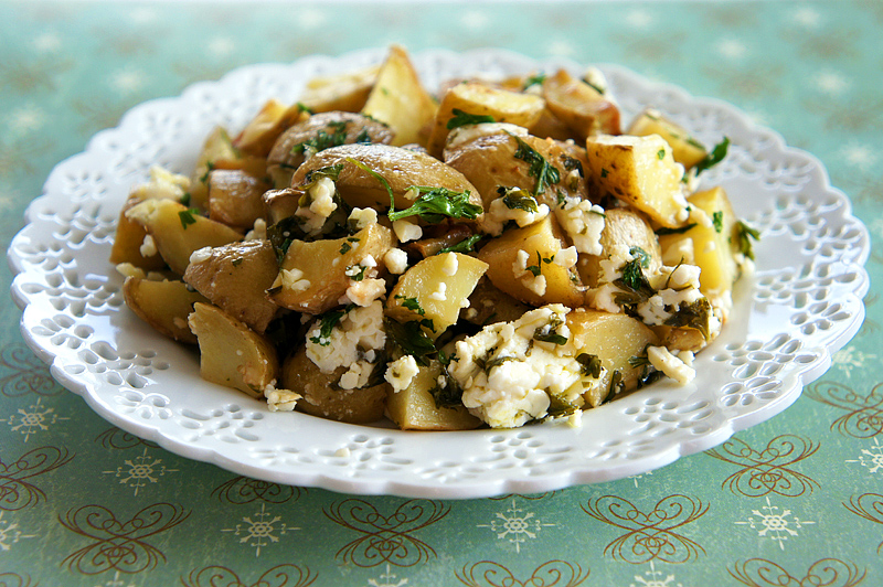 Feta and Parsley Potato Bake
