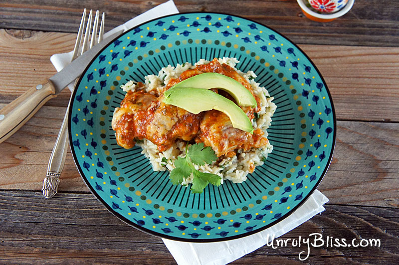 Chipotle Baked Chicken with Cilantro-Lime Rice